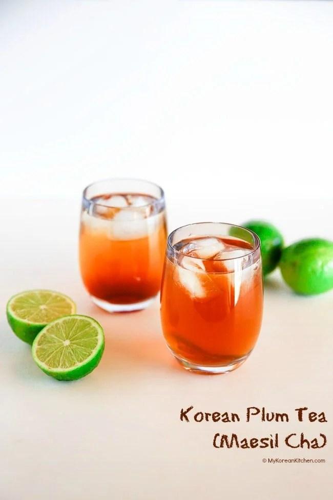 Korean Plum Tea (Maesil Cha) | MyKoreanKitchen.com