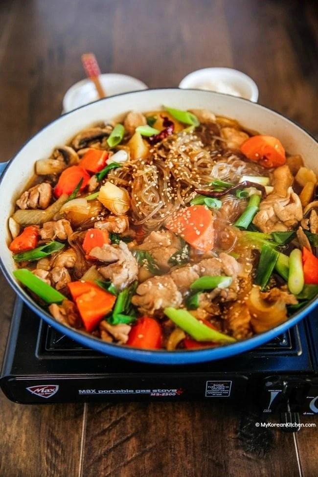 Jjimdak (Korean Braised Chicken) | MyKoreanKitchen.com