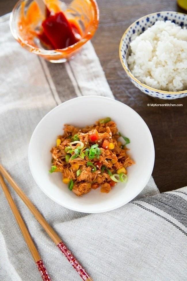 Korean sweet and spicy tuna | MyKoreanKitchen.com