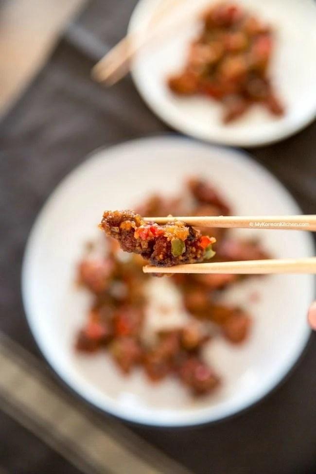 Spicy Garlic Fried Chicken (Kkanpunggi Recipe) | MyKoreanKitchen.com