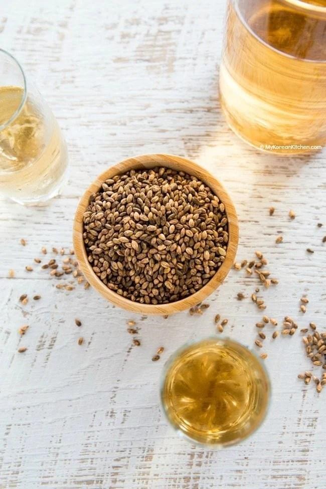 Korean Roasted Barley Tea (Boricha)   MyKoreanKitchen.com