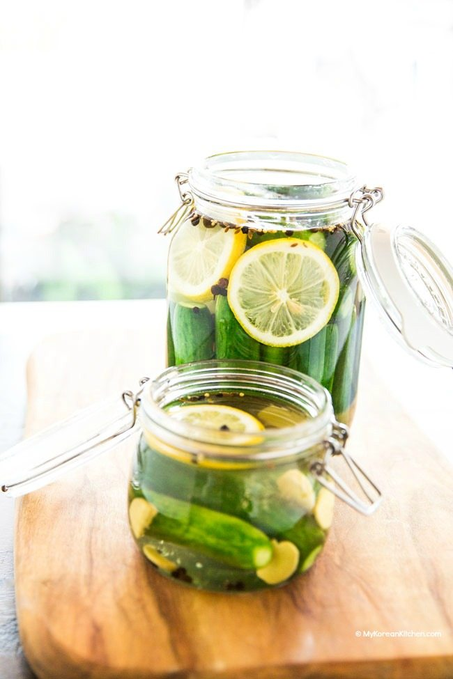 Cucumber Pickles with Lemon | MyKoreanKitchen.com