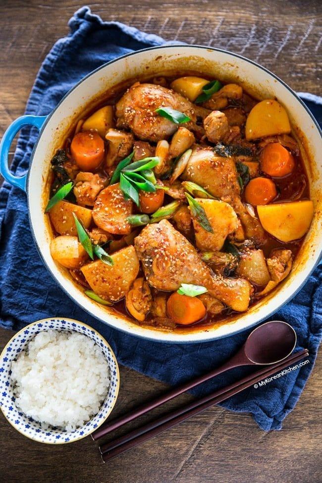 Korean Spicy Chicken Stew (Dakdoritang)