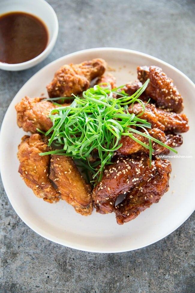Korean Fried Chicken with Scallion