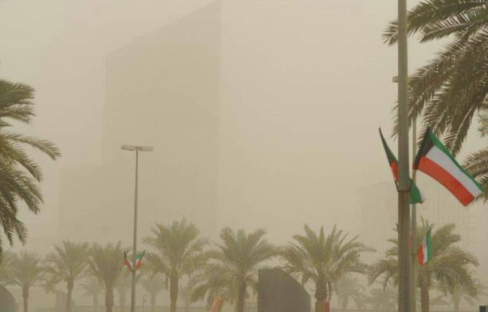 A wave of dust sweeping the country