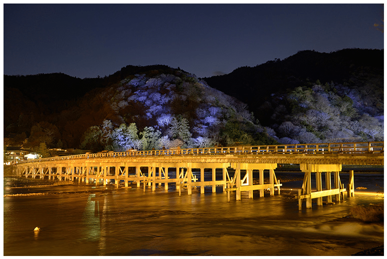Light up of the Togetsukyo Bridge