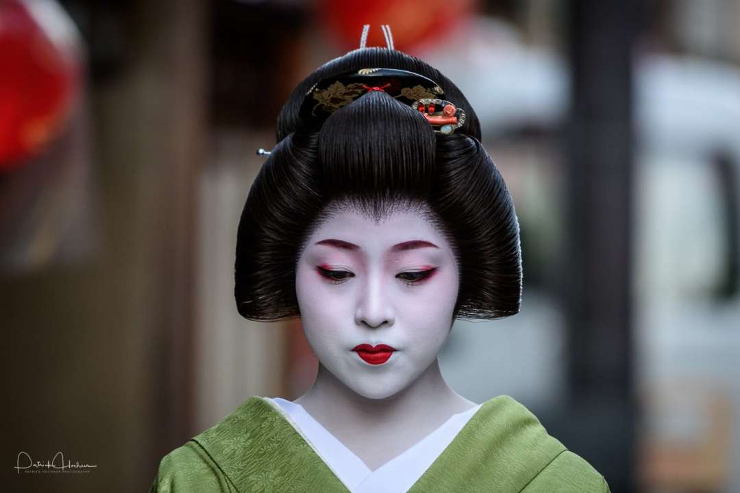 Geiko walking down the street