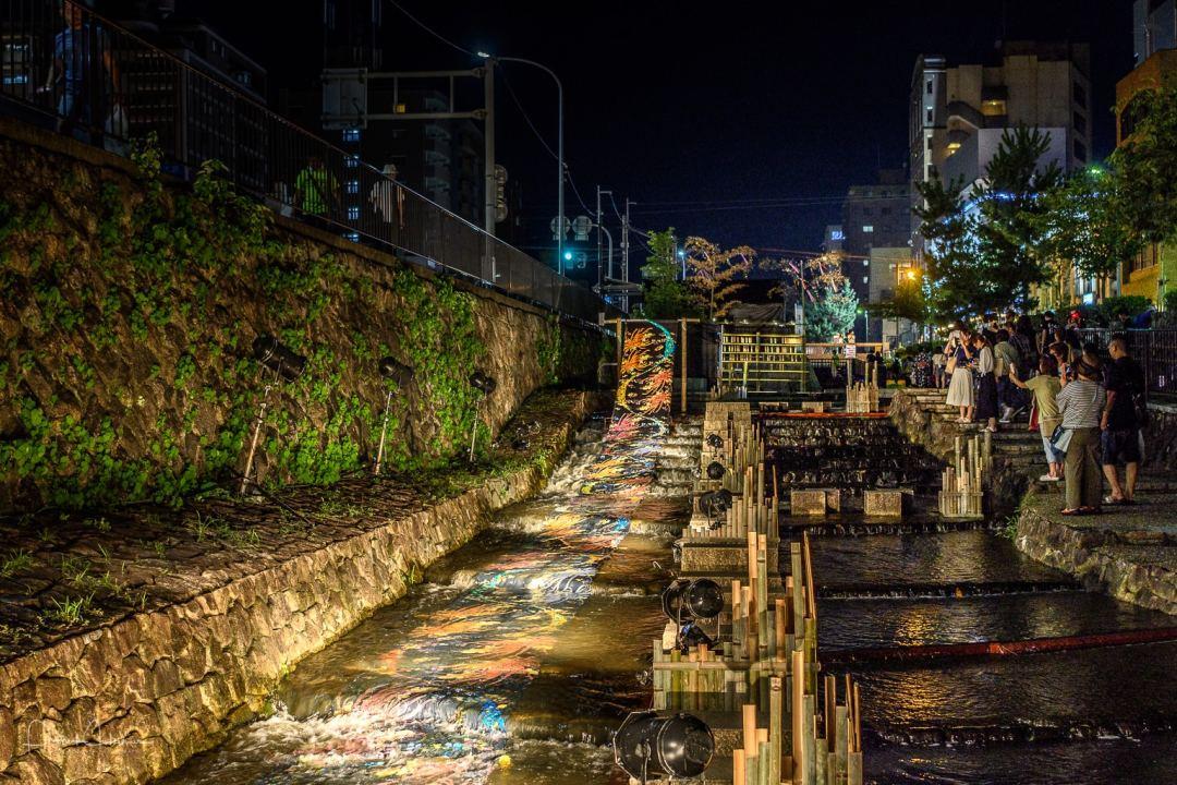 Illuminated Yuzen-nagashi, Kyo no Tanabata in the Horikawa site,