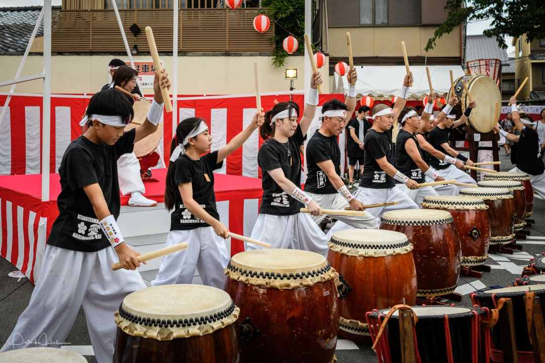 Kitano Tenmangu's  Taiko group Demonstration, Kyoto