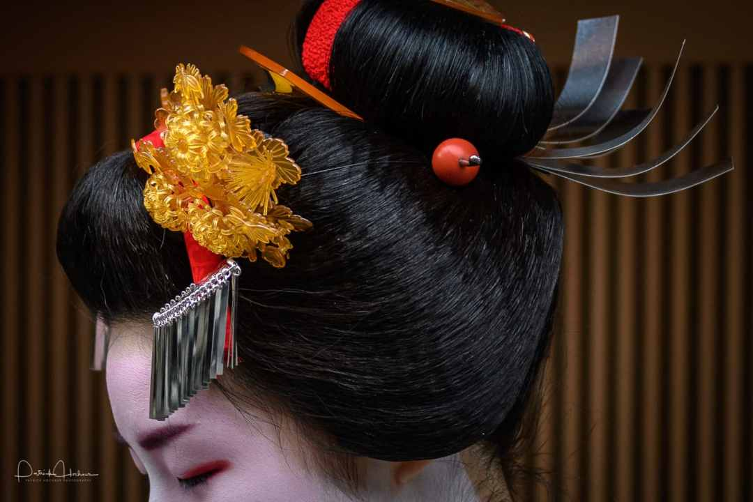 Detail of her hair ornaments, Kimimoe Misedashi