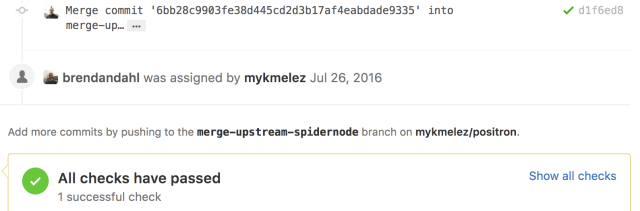 Screen Shot of GitHub PR with CI annotations