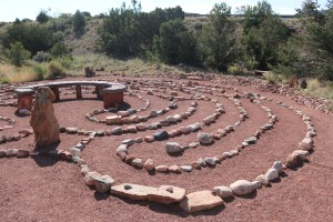 Located next to the Placitas library this labyrinth is one of the largest ones I've ever seen. And it appears to get a ton of use. I love how there is a bench in the middle for you to meditate and pause on the journey just taken. The views from here are incredible. Placitas at it's best.