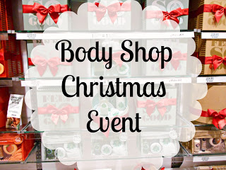 body shop, christmas event, lavender tinted world, lightinglavender, lollalong, lauren binley