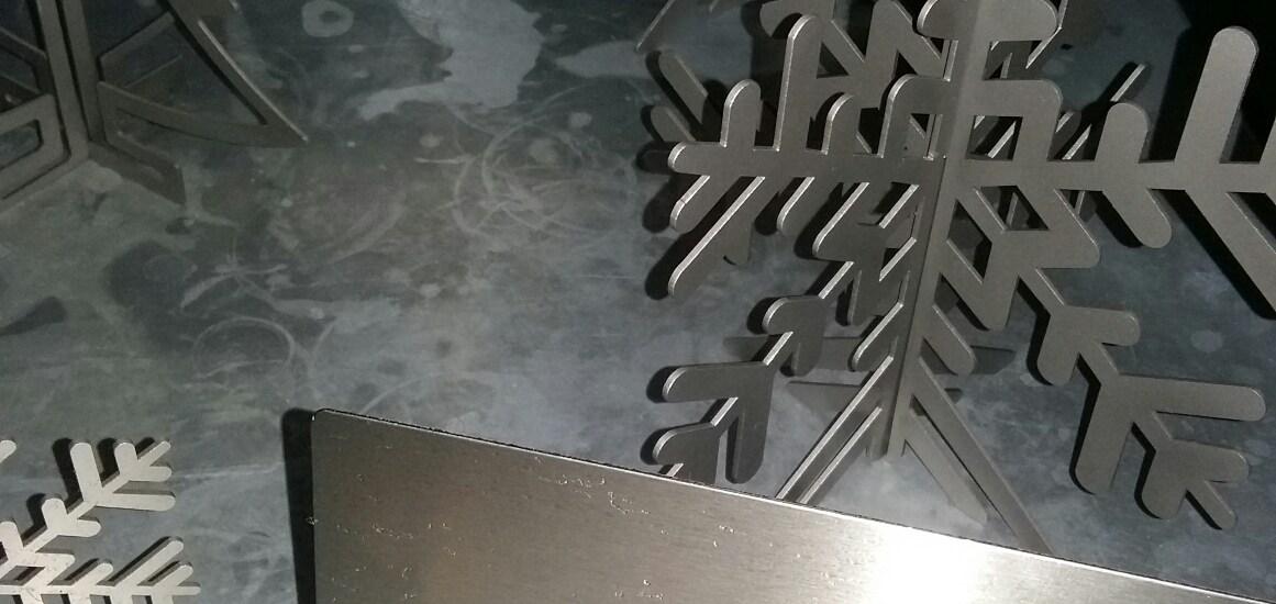 Baileys of Sheffield, snowflakes, steelwork,