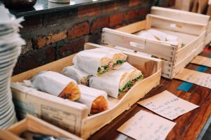 A photo of sandwiches provided at the viking arty party, photo taken elousia photography and displayed on My Lavender Tinted World