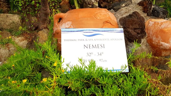 A view of the name of the Nemesi pool which had temperatures of 32 to 34 degrees Celsius. This pool also doubled up as a jacuzzi