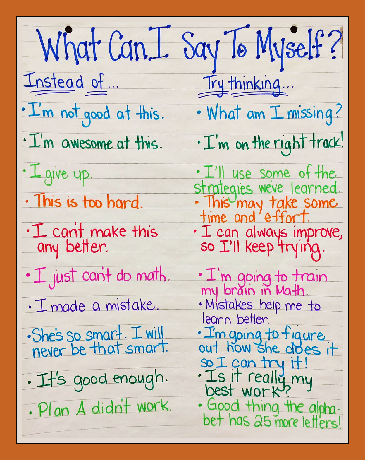 The Power Of Positive Self Talk My Learning Network
