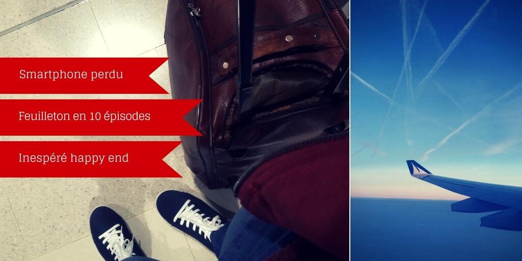 A l'aéroport, une « drôle » d'histoire de smartphone perdu puis retrouvé