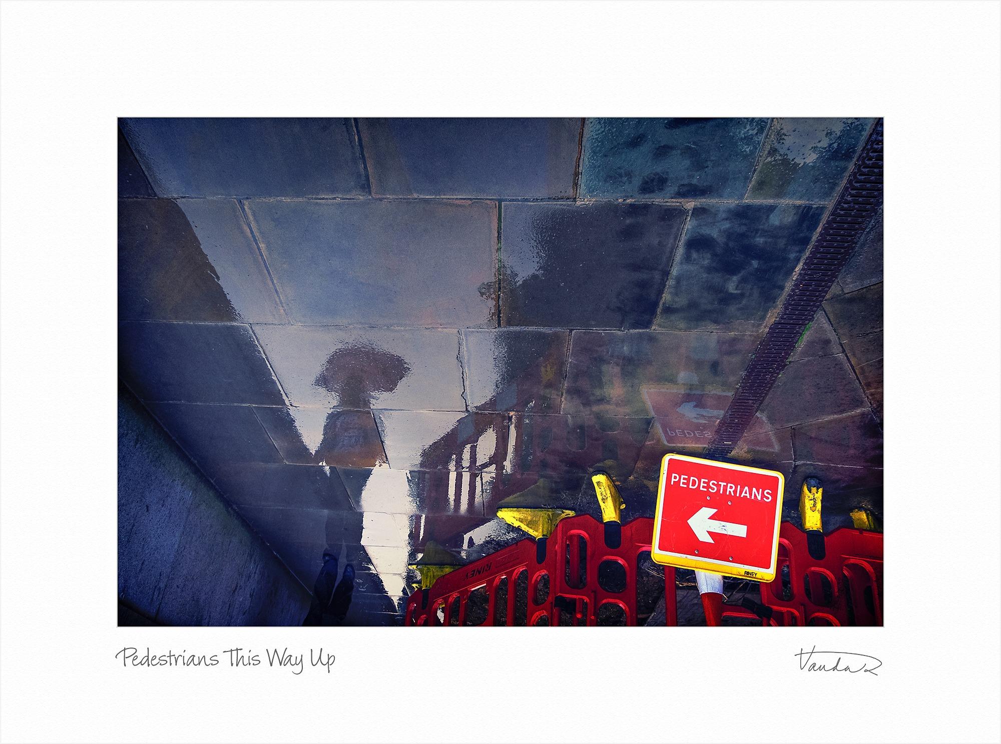 Pedestrians This Way Up