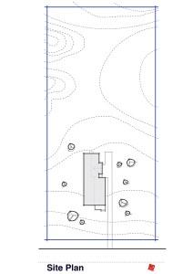 Site Plan, Custom Small House-North Grove, Saskatchewan