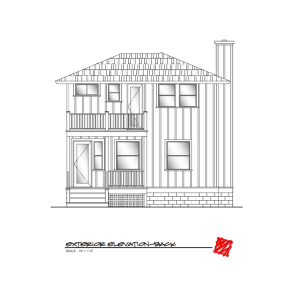 Custom Lowcountry Home Design-Myrtle, Bluffton South Carolina-Elevation Rear