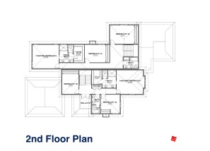 Custom Prefab Modular Design-Residential Duplex-2nd Floor Plan Santa Ana California