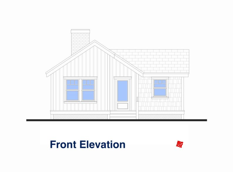 Custom Small House-High River, Alberta-Exterior Elevations