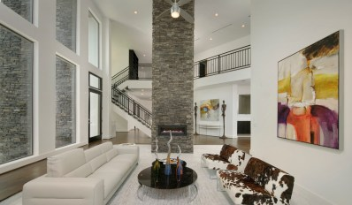 Eldorado Stone-Stacked Stone-Black River-Fireplace