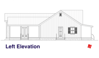 Lowcountry Custom Home design 03 HH-Elevations-Left