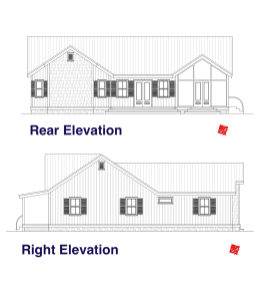 Lowcountry Custom Home design 03 HH-Elevations-Rear:Right
