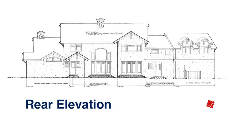 Myles Nelson McKenzie Design-Custom Home Design-Rustic Mountain, Park City, Utah-Rear Ext. Elevations