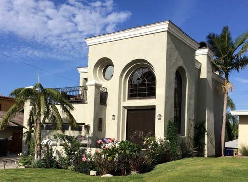 San Clemente Italian Villa Design-Remodel and Addition-Front Elevation 2