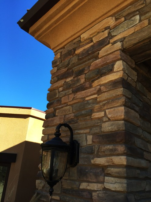 Home Remodel-Italian Ranch-Orange Acres-Entry Tower Stone Work