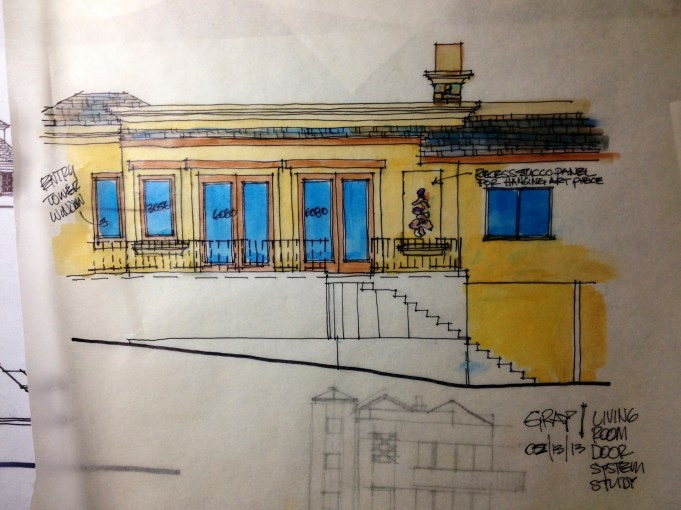Home Remodel-Italian Ranch-Orange Acres, CA-Exterior Study With Color