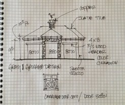 Home Remodel-Italian Ranch-Orange Acres, CA-Garage Front Study copy