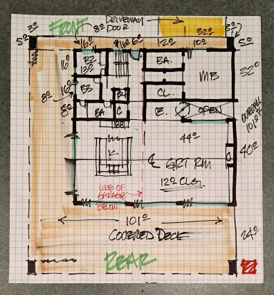 Modern Contemporary Home Design-Malibu California-Prelim Floor Plan Design