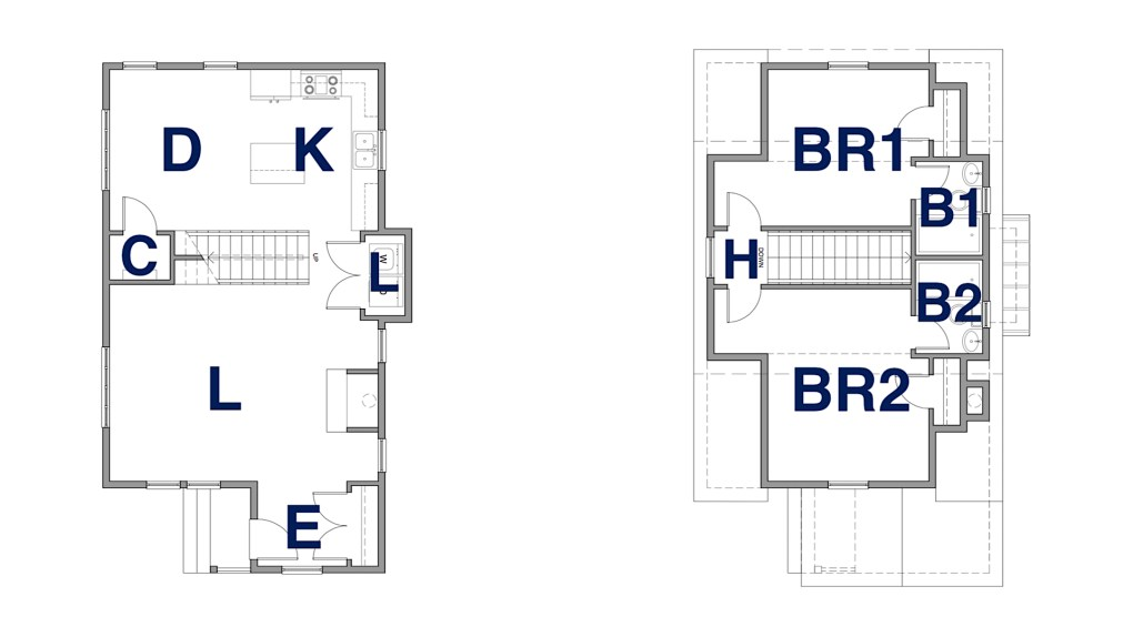Myles Nelson McKenzie Design-Country Cottage Home Design-Bluffton SC-Floor Plans