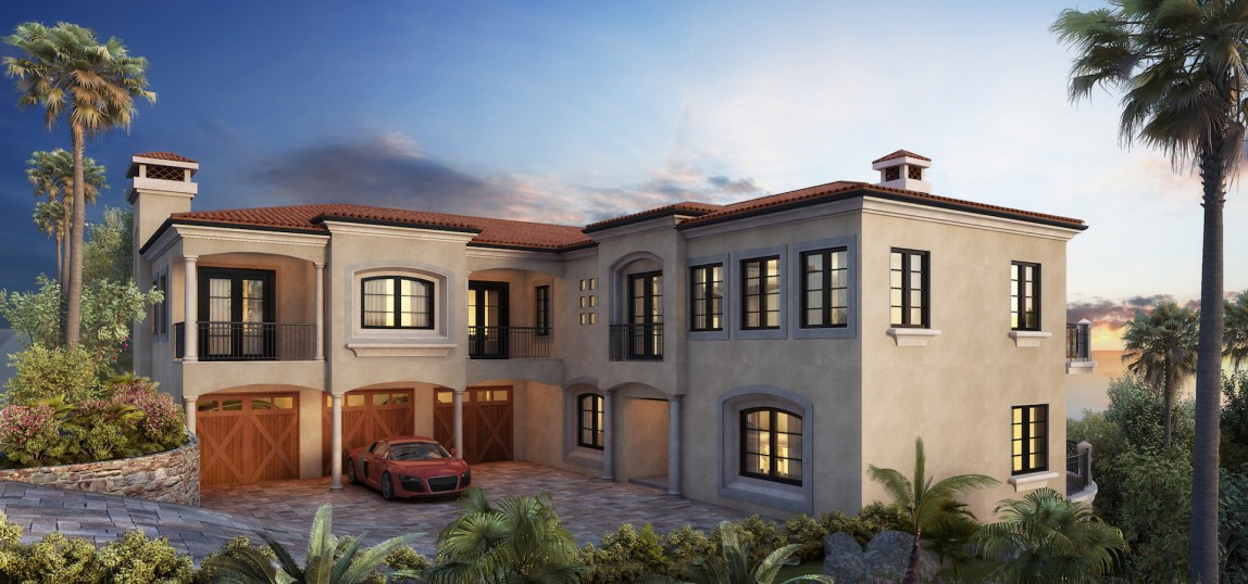 Realistic 3d renderings by Myles Nelson McKenzie Design-Exterior Elevation-70 Marbella, Sea Pointe Estates, San Clemente, CA