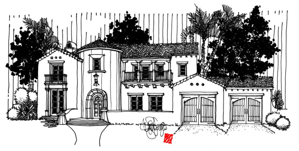 Myles Nelson McKenzie Design-Spanish Colonial Revival Paso Robles-Front Elevation
