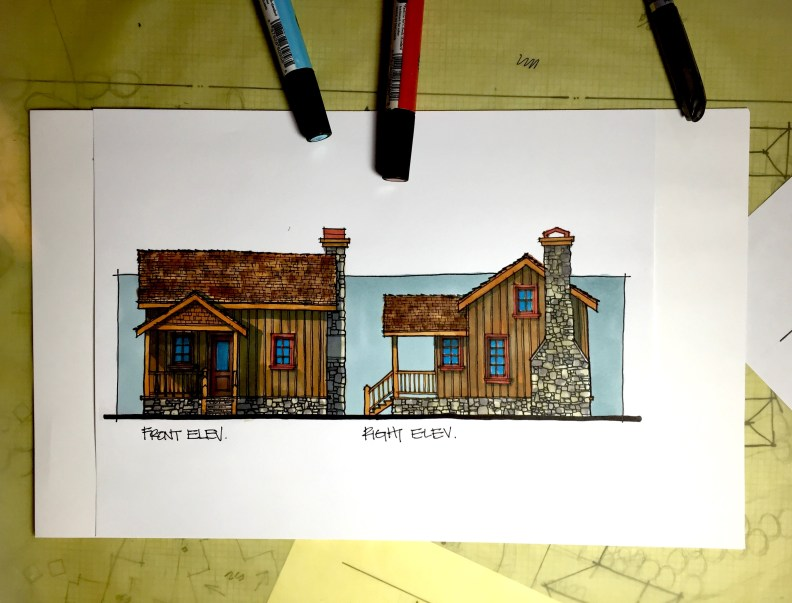 Lake Cabin Design for a project property in Delarande Saskatchewan Canada by Myles Nelson McKenzie Design.