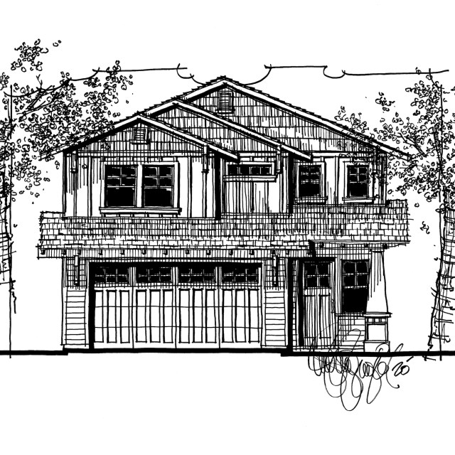 Myles Nelson McKenzie Design-Craftsman Style Custom Home-Orange, California