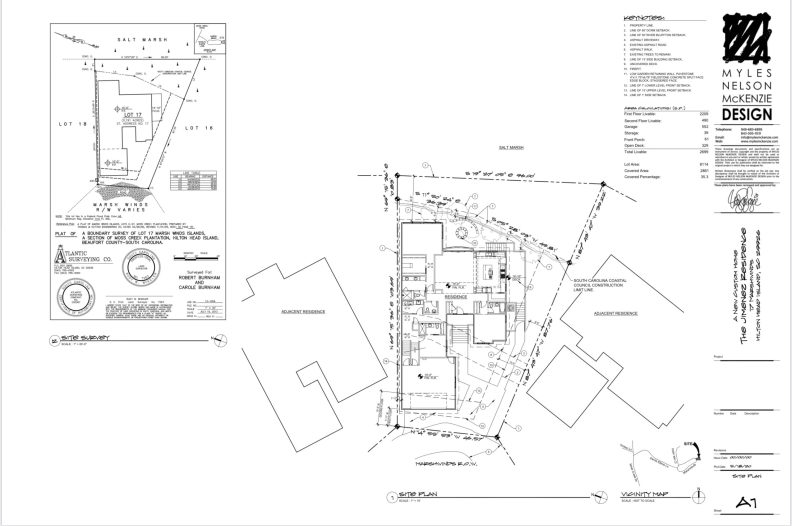 Site design for the Lowcountry Patio Home Design.
