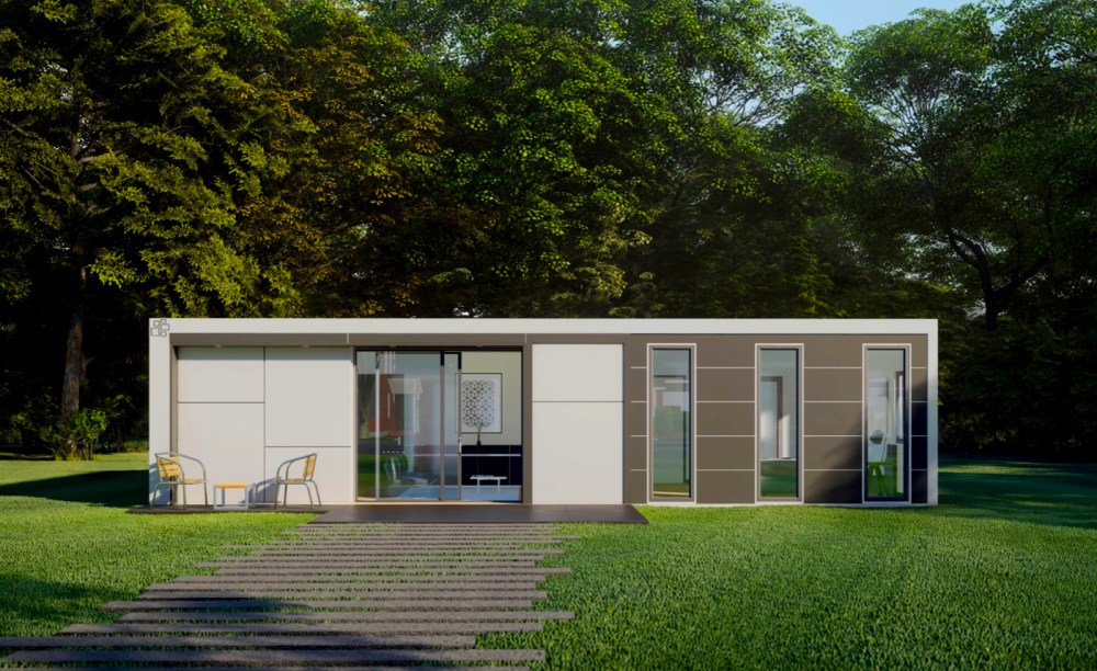 Roof And Realm-X100 ADU Modular Container designed and construction plans by Myles Nelson McKenzie Design.