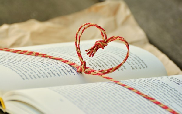 book with a heart, book, heart, string, live, self-hosted
