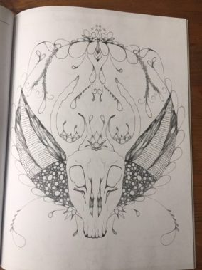 oh deer! coloring book page