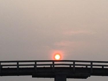 No.4826 早朝の蓬莱橋!!パートナーM氏のデジカメを持って・・・2020/10/23