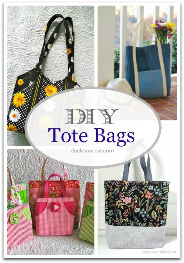 DIY Tote Bags you will love to make! #sewing #crafts