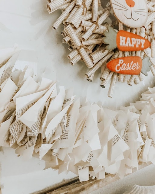 DIY Easter wreath made from paper #crafts