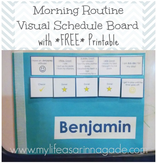 morning routine via my life as a rinnagade