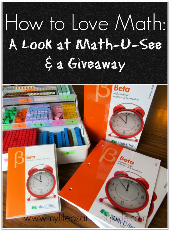 How to Love Math: A Look at Math-U-See & a Giveaway - cindy rinna